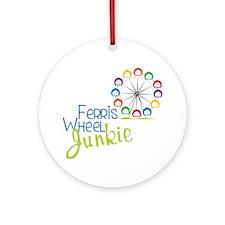 Ferris Wheel Junkie Round Ornament