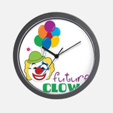 Future Clown Wall Clock