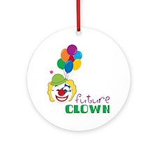 Future Clown Round Ornament