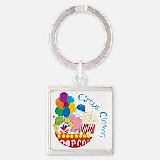 Circus Clown Square Keychain
