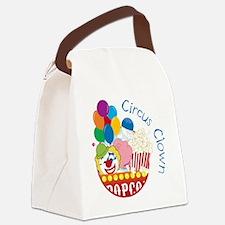 Circus Clown Canvas Lunch Bag