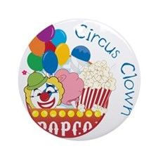 Circus Clown Round Ornament
