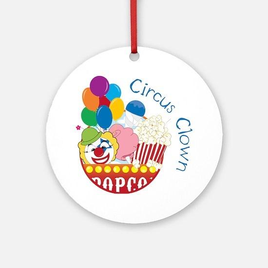 Circus Clown Round Ornament