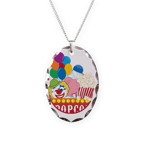 Carnival Logo Necklace Oval Charm