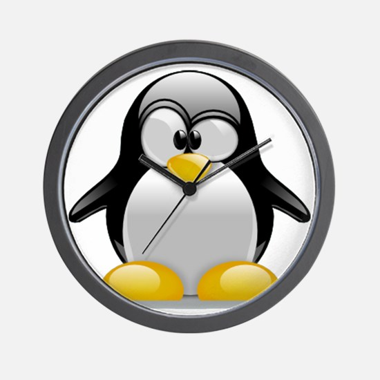 Tux the Penguin Wall Clock