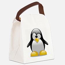 Tux the Penguin Canvas Lunch Bag