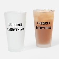 RON SWANSON REGRET Drinking Glass