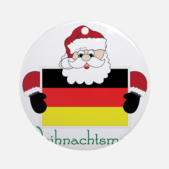 Weihnachtsmann Round Ornament