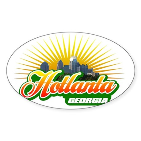 Hotlanta Georgia Sticker (Oval)