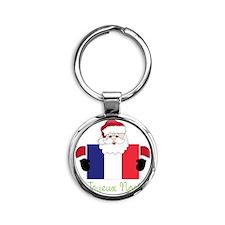 Joyeux Noel Round Keychain