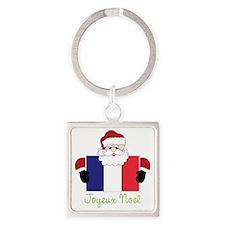 Joyeux Noel Square Keychain