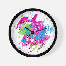 80s Splatter Wall Clock