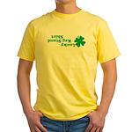 Lucky Keg Stand Yellow T-Shirt
