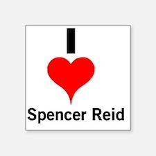 "I Heart Spencer Reid 1 Square Sticker 3"" x 3"""