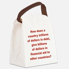 HOW DOES A COUNTRY TRILLIONS OF D Canvas Lunch Bag