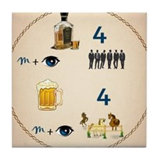 Round Drink Coaster Beer For My Horse Tile Coaster