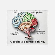 A Brain Throw Blanket