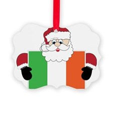 Santa In Ireland Ornament