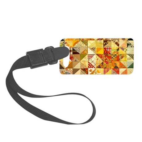 Fun Patchwork Quilt Small Luggage Tag