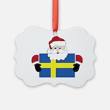 Santa In Sweden Ornament