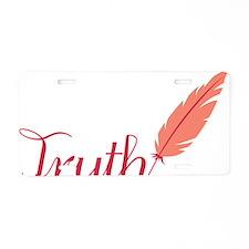 Truth Aluminum License Plate