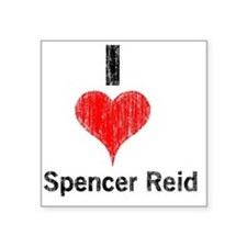 "Vintage I Heart Spencer Rei Square Sticker 3"" x 3"""