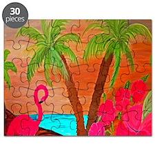 flamingo in paradise Puzzle