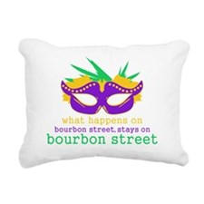 What Happens on Bourbon  Rectangular Canvas Pillow