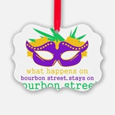 What Happens on Bourbon Street Picture Ornament