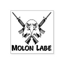 "Molon Labe Eagle Square Sticker 3"" x 3"""