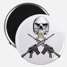 Skull Bullet Teeth Blk Magnet