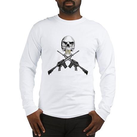 Skull Bullet Teeth Blk Long Sleeve T-Shirt