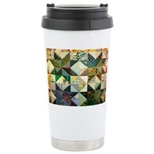 Fun Patchwork Quilt Thermos Mug