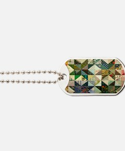Fun Patchwork Quilt Dog Tags