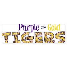 Purple And Gold Bumper Sticker