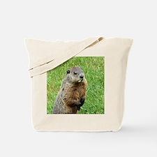 Woodchuck Eating Tote Bag