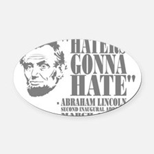 Lincoln Oval Car Magnet