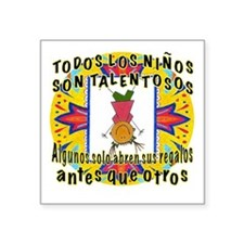"""Gifted Kids SPANISH Square Sticker 3"""" x 3"""""""