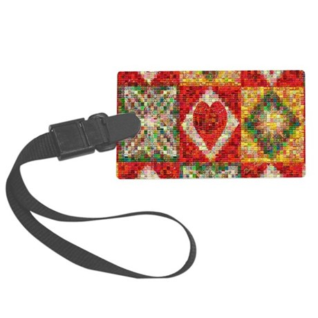 Heart Patchwork Lov... Large Luggage Tag