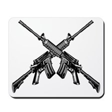 Crossed AR15 Rifles Mousepad