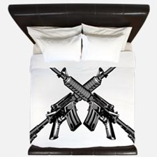 Crossed AR15 Rifles King Duvet
