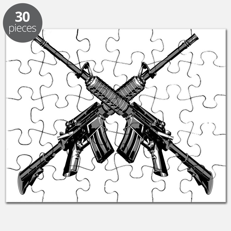 Crossed AR15 Rifles Puzzle