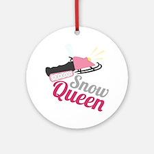 Snow Queen Round Ornament