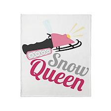 Snow Queen Throw Blanket