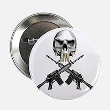 """Skull Bullet teeth 2.25"""" Button"""