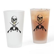 Skull Bullet teeth Drinking Glass
