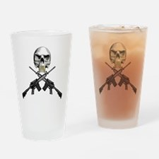 Skull Bullet teeth Drinking Glass