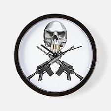 Skull Bullet teeth Wall Clock
