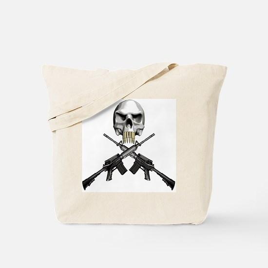 Skull Bullet teeth Tote Bag