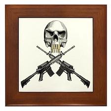 Skull Bullet teeth Framed Tile
